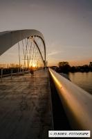 Beatus Rhenanus Brücke am Abend
