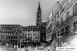 Straßburger Altstadt in S/W