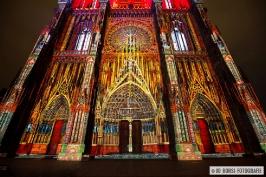 Straßburger Münster beleuchtet 2015