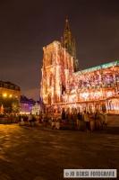 Straßburger Münster beleuchtet 2016